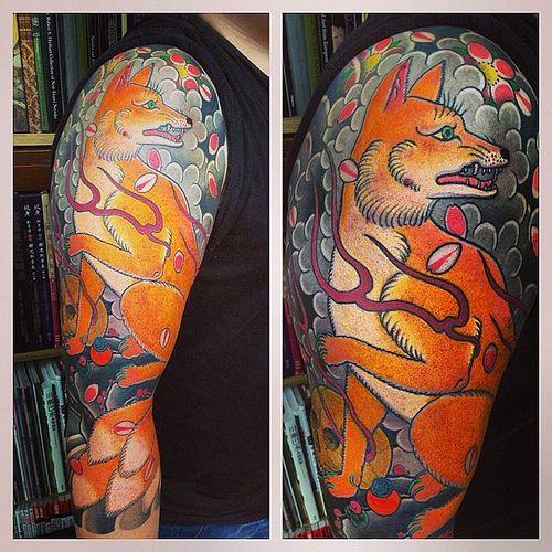 4ed6066ba #fox #arm #tattoo #horimono #horikitsune #london #horiyoshi_3 #family #japan
