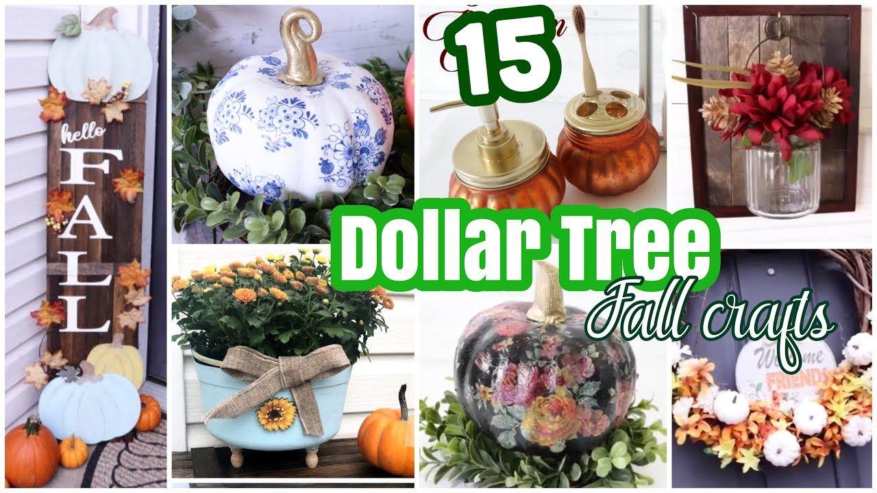 15 Best DOLLAR TREE DIY Fall Home Decor Crafts YouTube