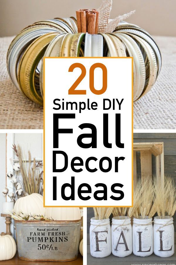 20 Easy and Festive Fall Decor Ideas #diyfalldecor
