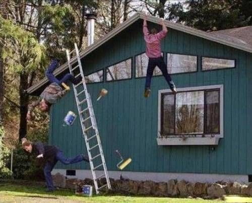 House Painting Disaster Funny Accidents Funny Pictures