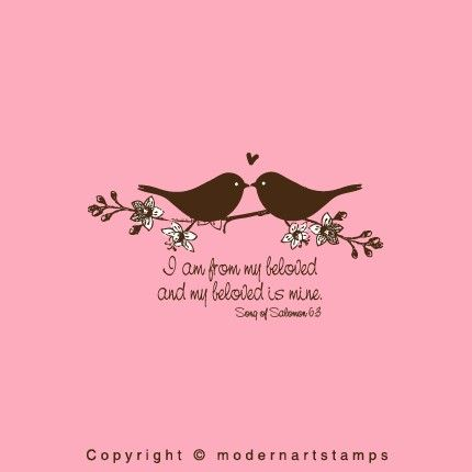 Love Birds Stamp Birds In Branch Stamp Wedding Stamp Bible Verses