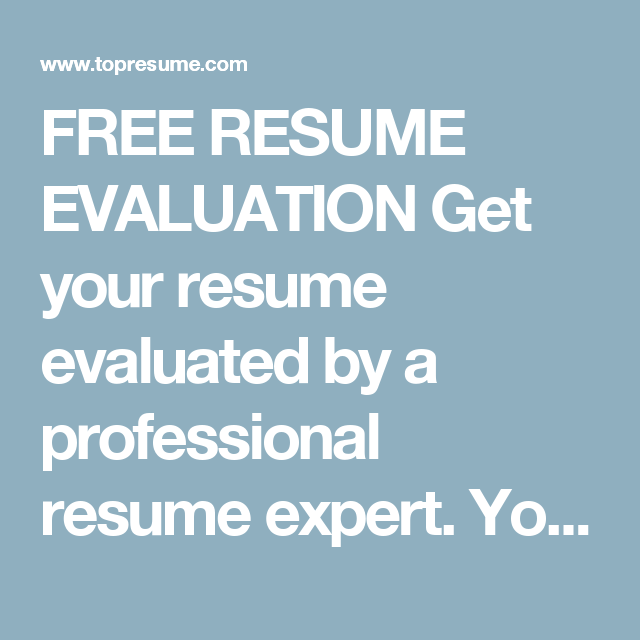 free resume evaluation get your resume evaluated by a professional