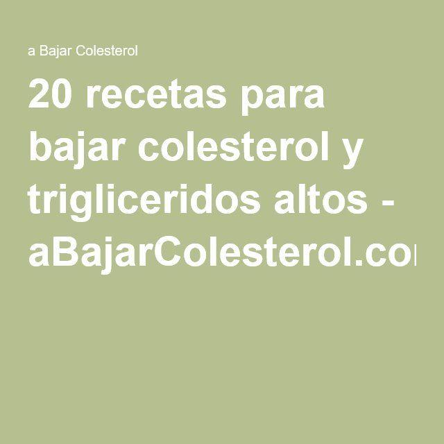 Dieta para colesterol y trigliceridos