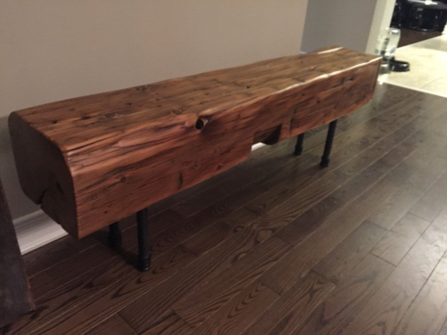 Astonishing Gorgeous Reclaimed Barn Beams Made Into Benches Legs Are Ibusinesslaw Wood Chair Design Ideas Ibusinesslaworg