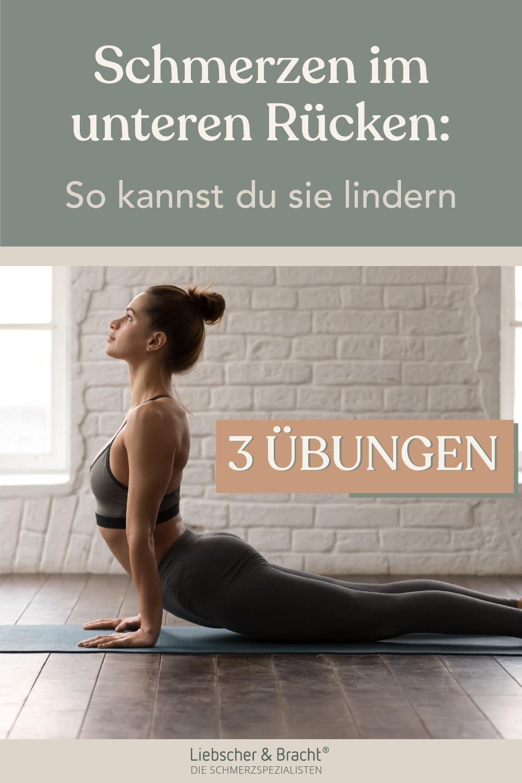 Schmerzen im unteren Rücken: 3 effektive Übungen