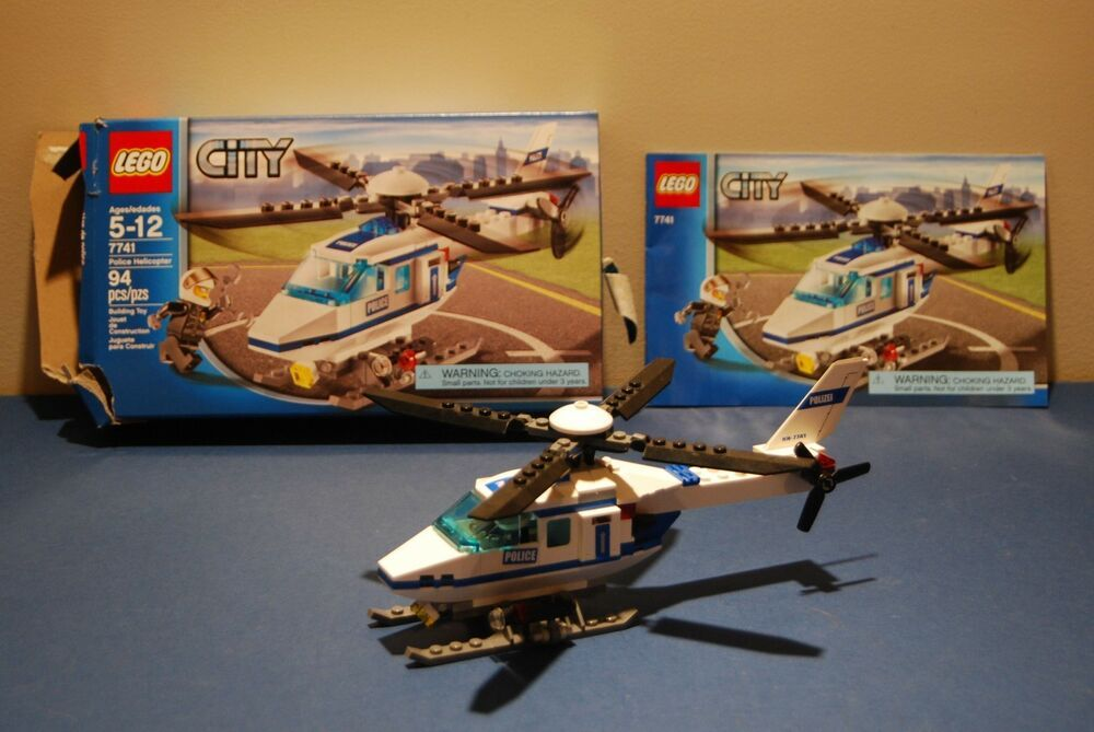 Lego 7741 Police Helicopter Set 100 Complete With Manual Original Box Afflink Contains Affiliate Links When You Lego City Police Helicopter Lego Lego City