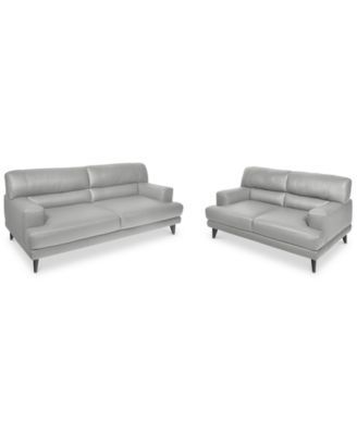Stupendous Ramella Leather Sofa And Loveseat Set Only At Macys Pabps2019 Chair Design Images Pabps2019Com