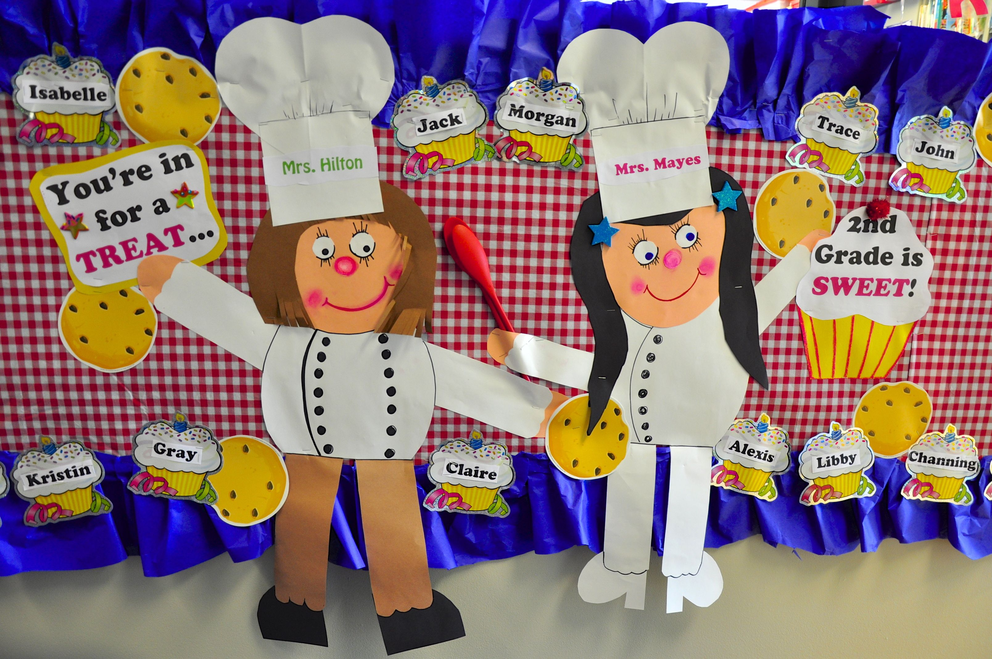 Baking Cooking Theme Back To School Welcome Display