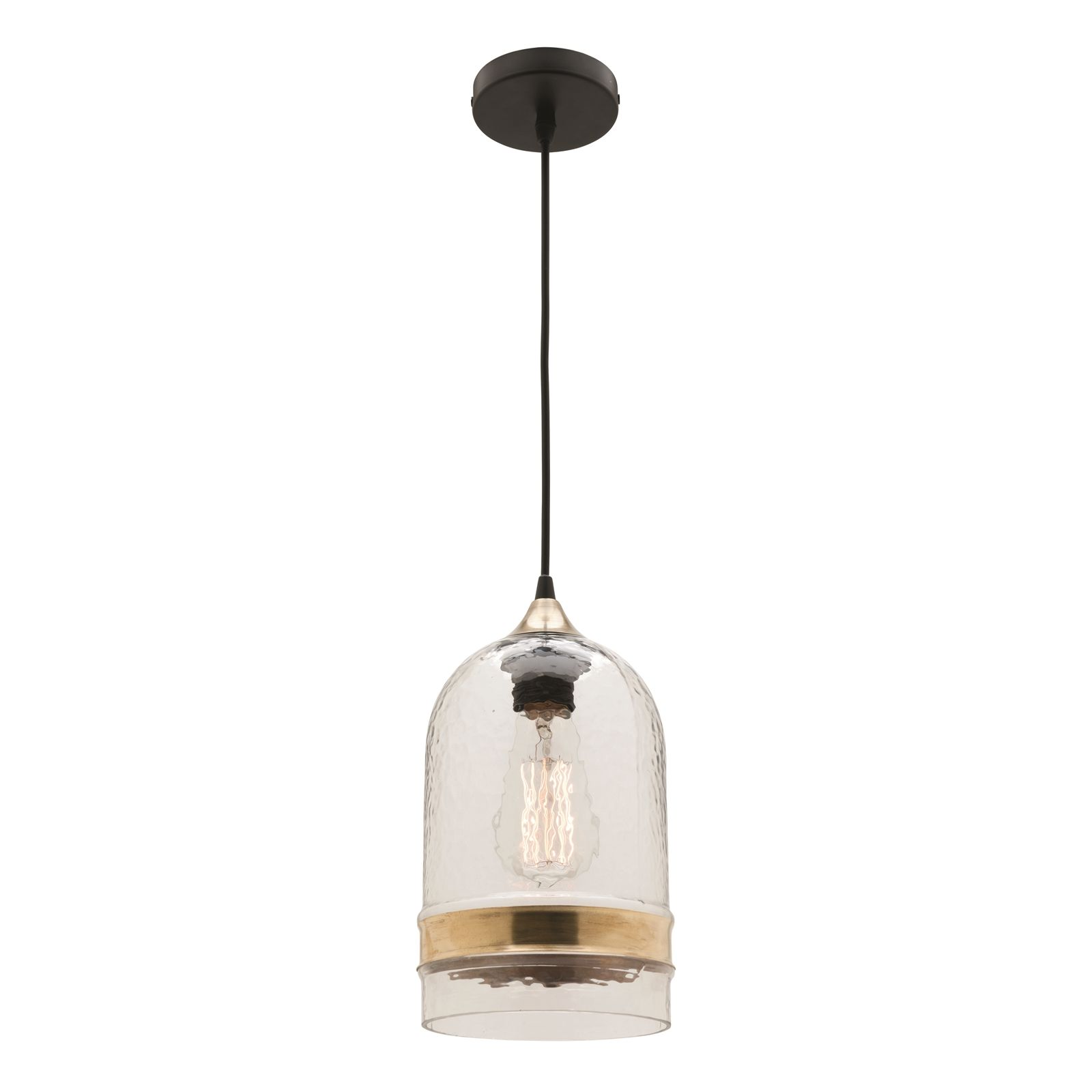 Find Mercator 240V Glass And Brass Haven Pendant Light At