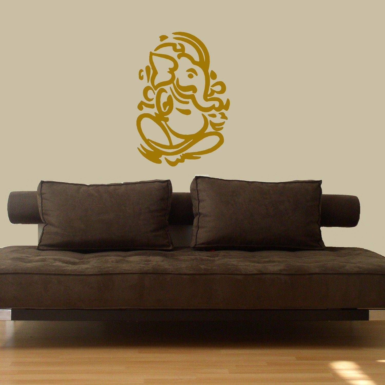 Lord Ganesh Vinyl Wall DECAL Hindi Hindu India Interior Design Sticker Art Room Home And Business Decor