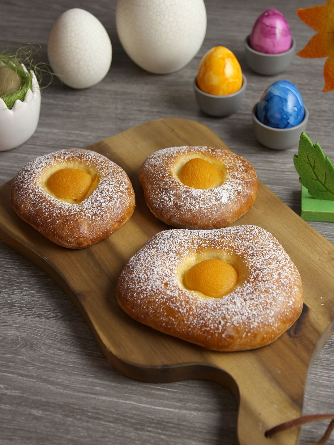 Photo of Sweet Easter Buns – For the Easter breakfast in fried egg optics – Bread from …