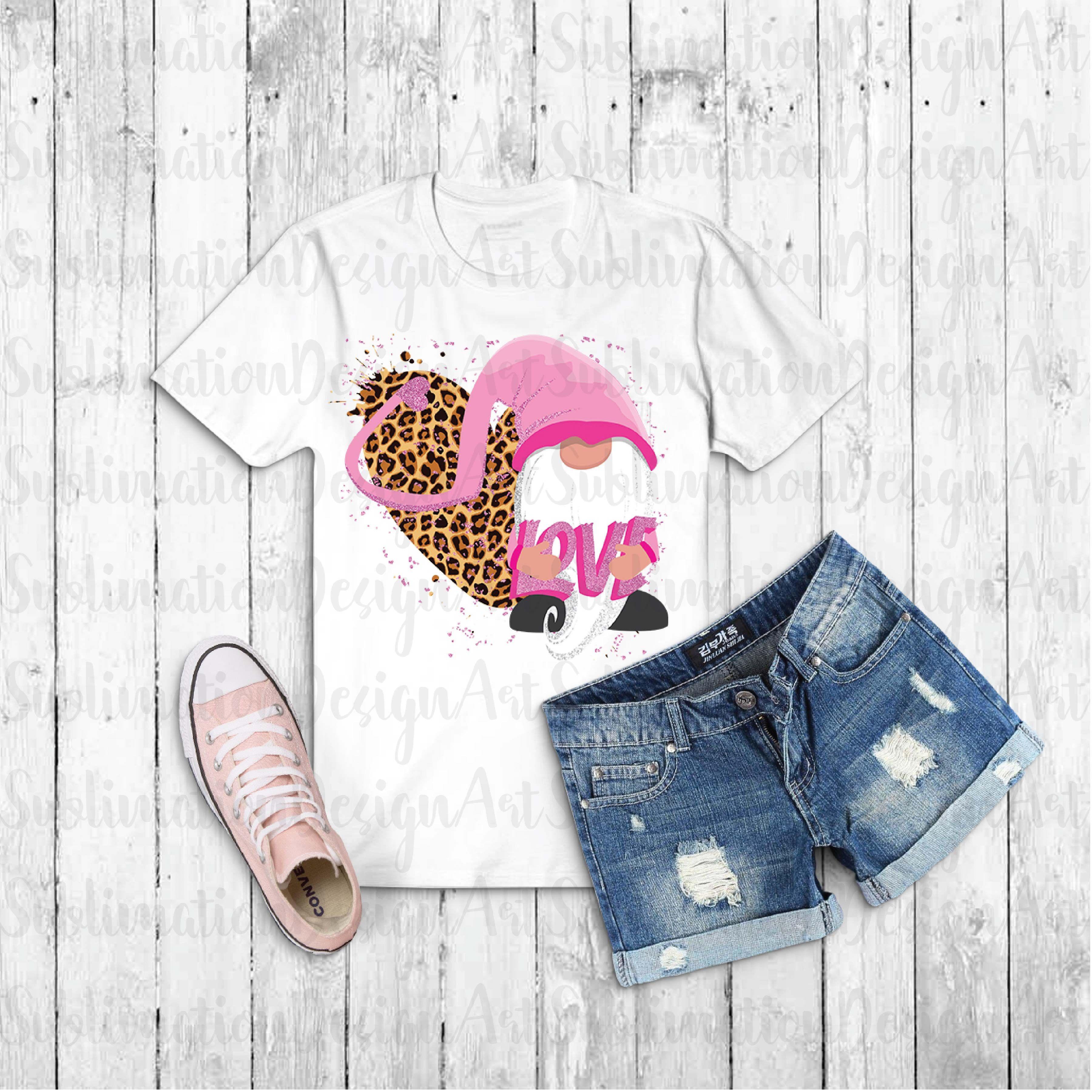 Download Pink Valentine's day gnome,Sublimation Designs,Digital ...