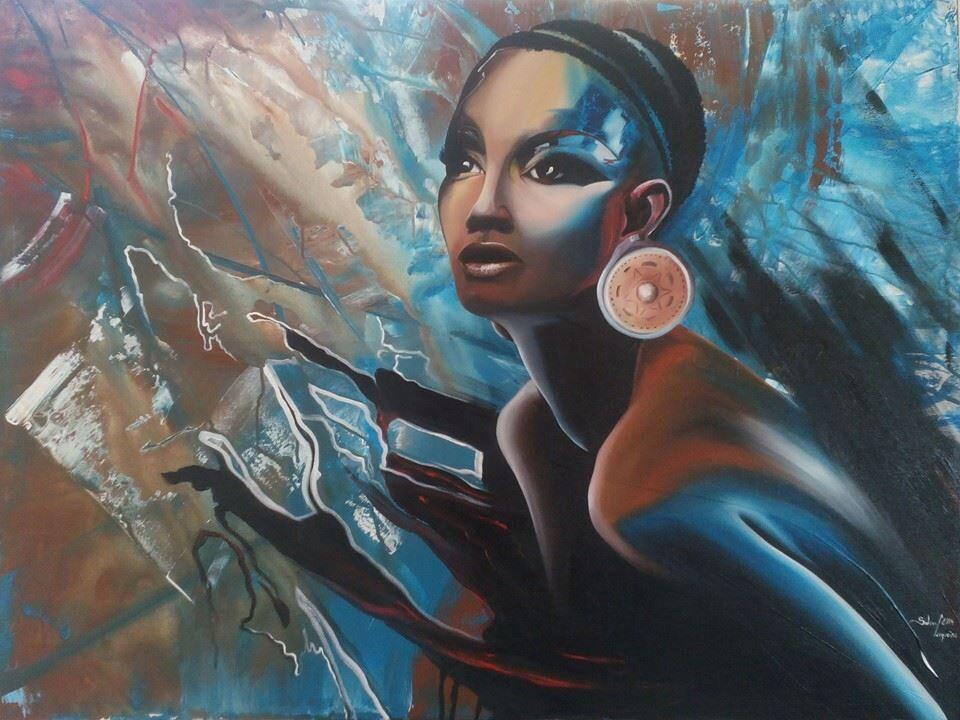 African art, black women, beautiful, color, inspiration, bij Sidney Cerqueira, West Africa.