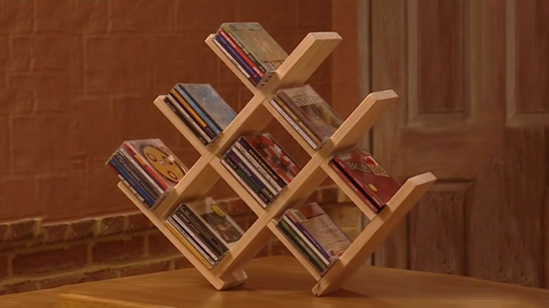 How to Build a Wooden CD Rack. How to Build a Wooden CD Rack   carpinteria   Pinterest   Dvd rack