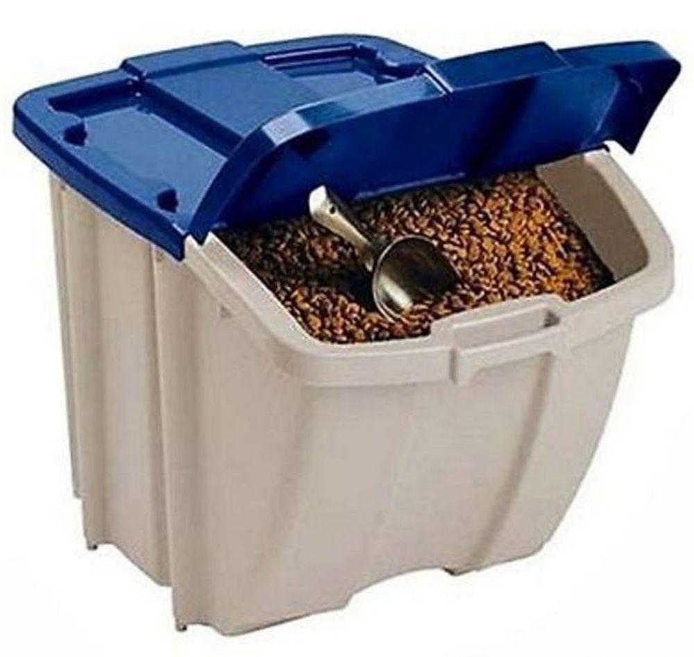 Food storage bin 50 lbs dog container pet cat animal