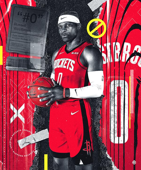 Westbrook X Rockets On Behance Westbrook Houston Rockets Nba Wallpapers