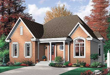 plan 21213dr economical 2 bedroom brick house plan