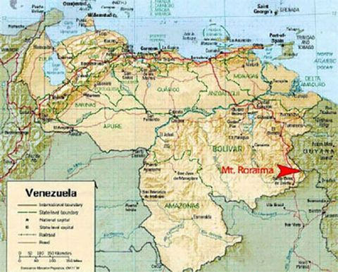 mount roraima map Incredible Image of Mount Roraima Guyana