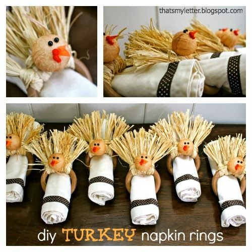 """That's My Letter: """"T"""" is for Turkey Napkin Rings"""