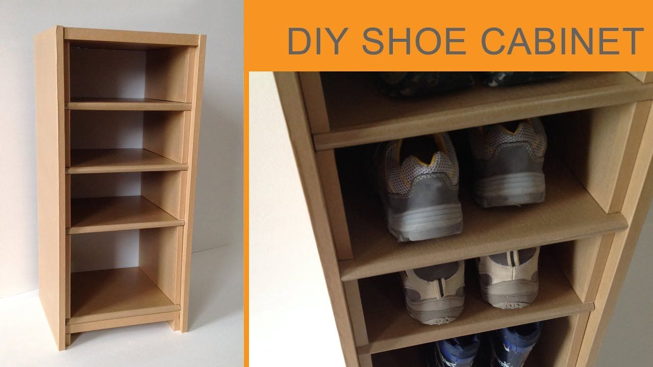 Diy Cardboard Shoe Cabinet Cardboard Furniture Diy Cardboard Diy Cardboard Furniture Cardboard Furniture