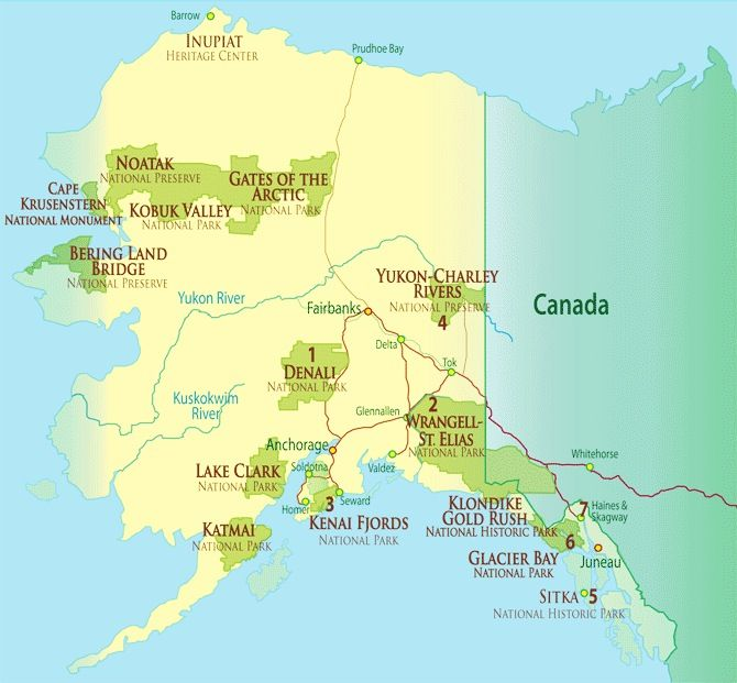Denali national park map Yahoo Search Results TRAVEL Stateside