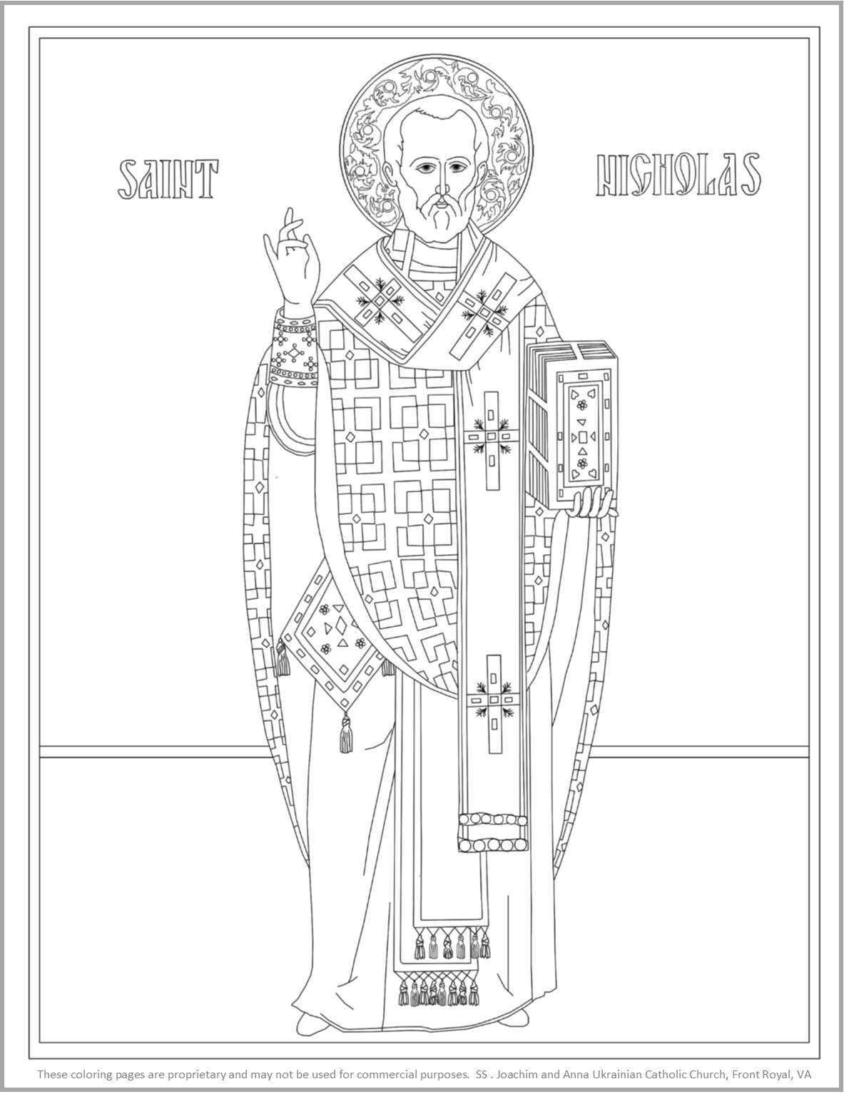 Icon Of St Nicholas Coloring Page Coloring Pages For Kids Castle Coloring Page Coloring Pages
