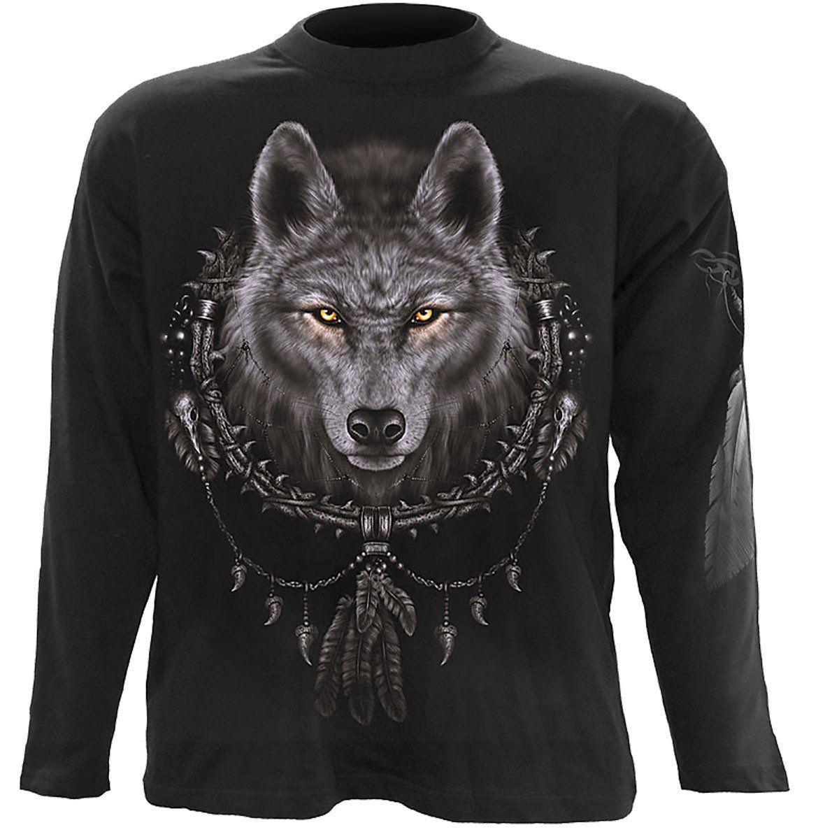 Spiral Direct WOLF DREAMS Hoodie Biker//Skull//Goth//Wolf//American Indian//Hoody