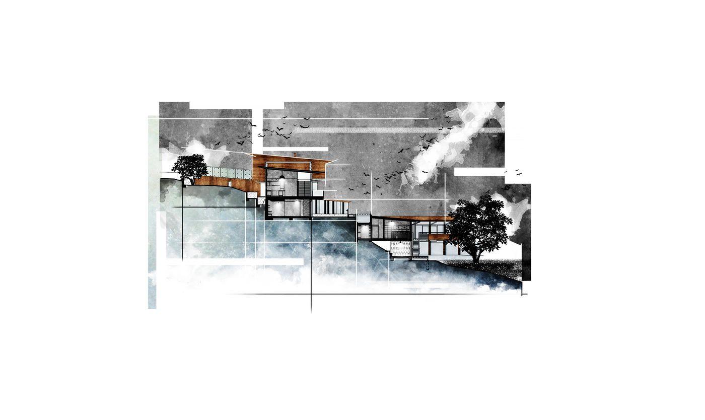 剖面图绘制教程 纹理拼贴风 内附案例素材包 建筑学院 Community