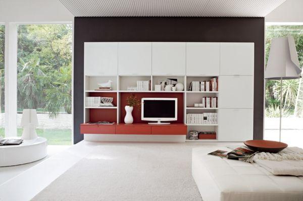 wohnzimmer mit einem schönem schrank einrichten - Wie ein modernes - schlafzimmerschrank mit tv