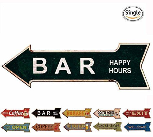 Bar Signs And Decorations Hantajanss Bar Signs Retro Arrow Embossed Metal Signs For Wall