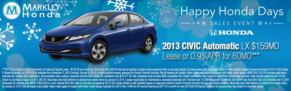 Get A Great Deal On A New Honda Civic At Markley Honda In Fort Collins,  Colorado.