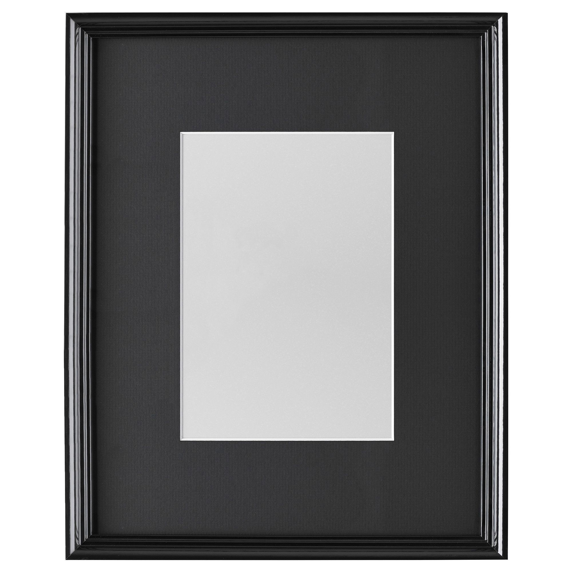 Strip black white picture frame
