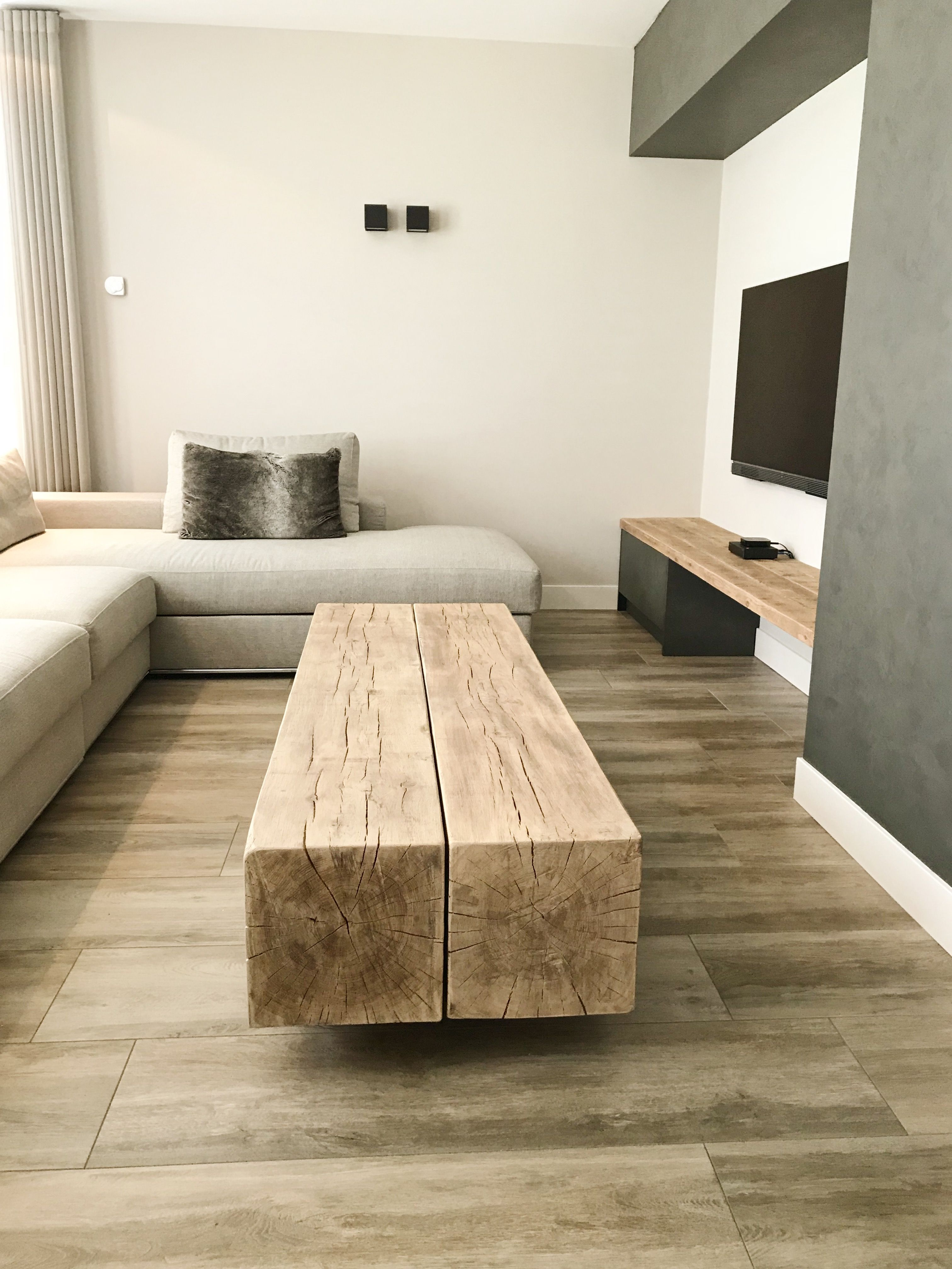 Fonkelnieuw Salontafel balk   Huis interieur, Interieur woonkamer, Woonkamer tafel HQ-29