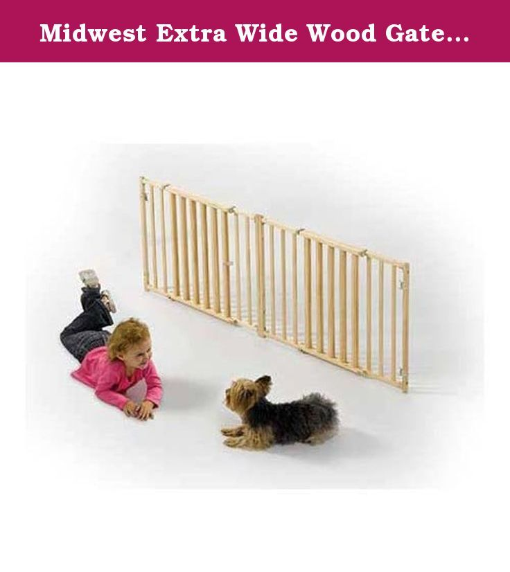 Midwest Extra Wide Wood Gate 53 96 X 24 Available In Four