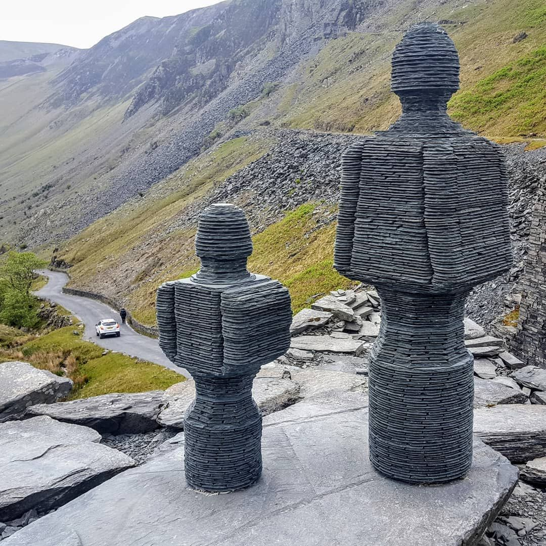 Slate Sculptures At The Summit Of Honister Pass In West Lake