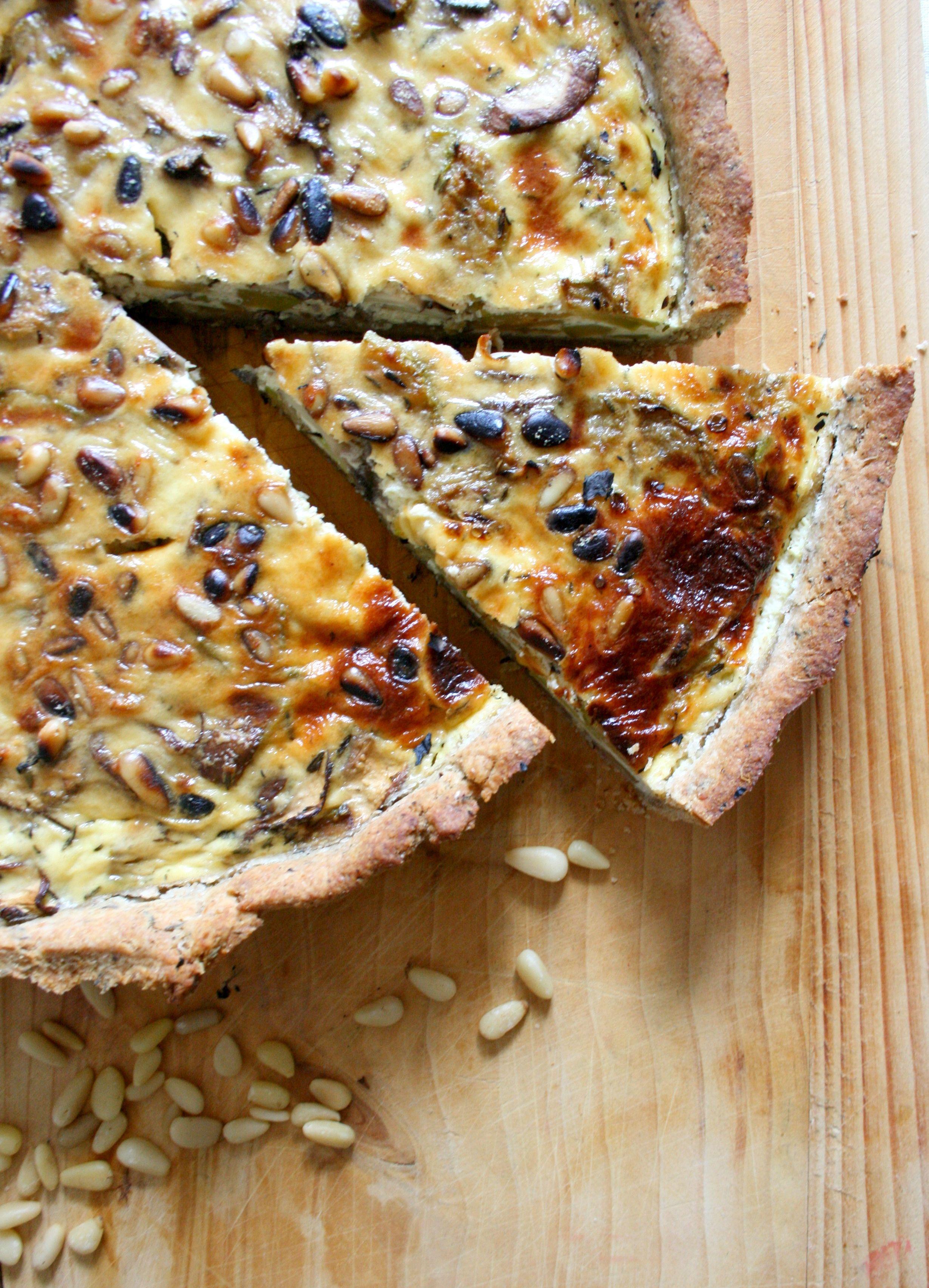 Tarte aux 5 céréales, courgettes et champignons frais {pâte brisée maison} | Recette champignon ...