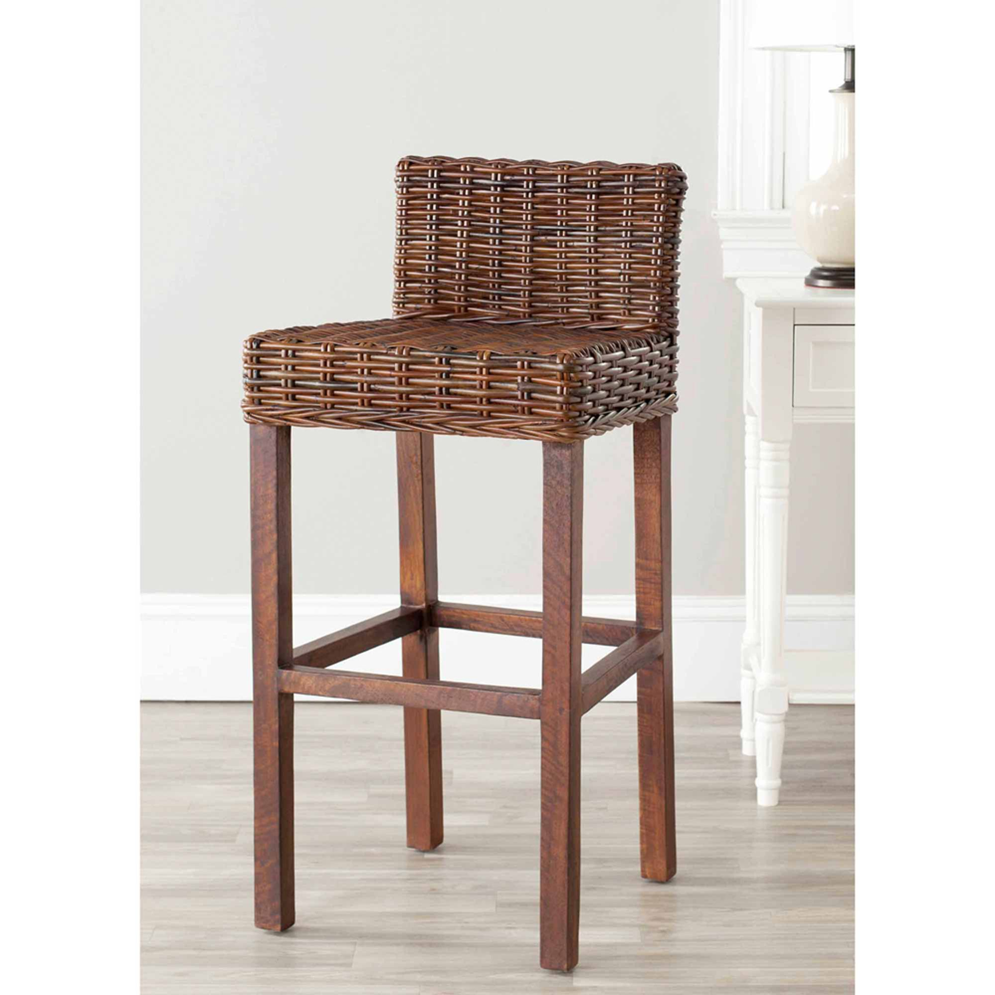 Free 2 Day Shipping Buy Safavieh Cypress Bar Stool At Walmart Com Wicker Bar Stools Brown Bar Stools Bar Stools