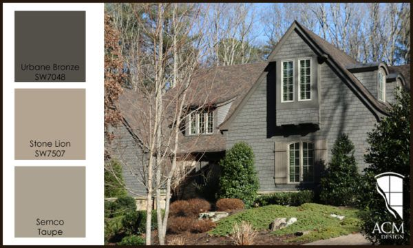 Nice Urbane Bronze And Stone Lion Exterior Paint Colors By Sherwin Williams.  Home Design By ACM