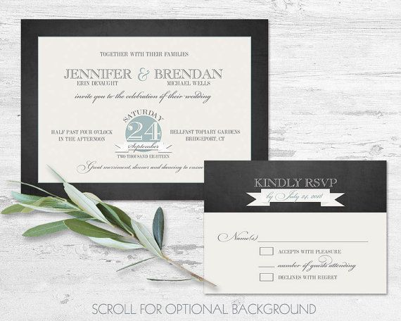 Printable Wedding Invitation Template by NotedOccasions on Etsy