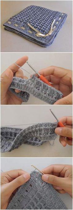 Crochet Beautiful Baby Blanket Waffle Stitch   Crocheting weaving ...