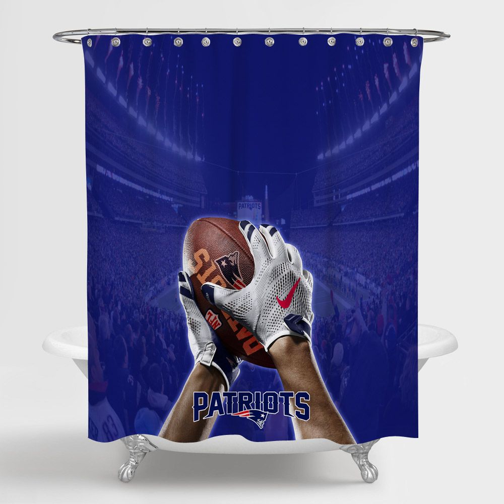 New England Patriots National Football League Shower Curtain 100