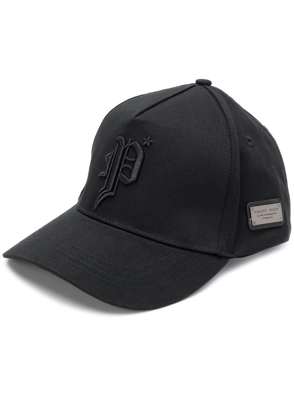 8314b38c PHILIPP PLEIN PHILIPP PLEIN GOTHIC BASEBALL FLAT CAP - BLACK ...