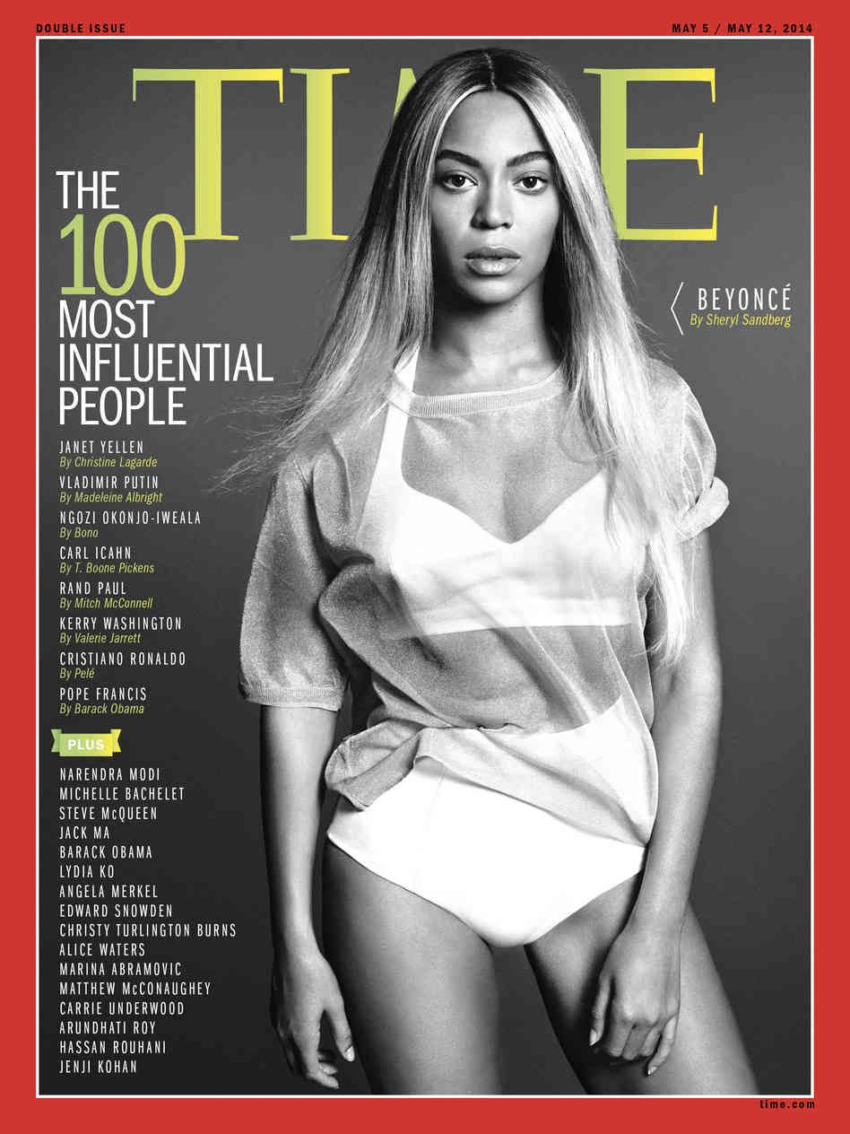 Beyonce covers TIME magazine's 100 Most Influential People 2014 issue. [related: Beyonce's 'Time' magazine cover gets backlash: http://www.usatoday.com/videos/life/people/2014/04/30/8518773/]