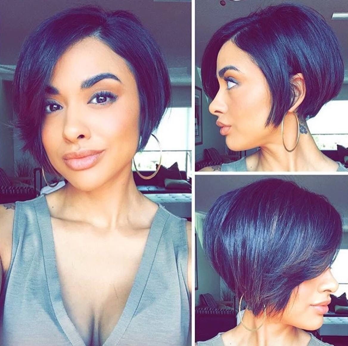 Pin by jay tee on natural hairstyles pinterest hair style bobs