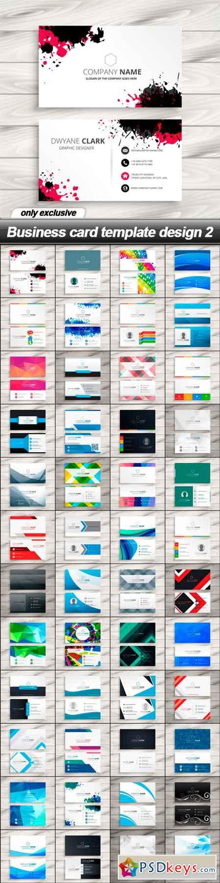 Business card template design 2 48 eps pinterest business card template design 2 48 eps friedricerecipe Gallery