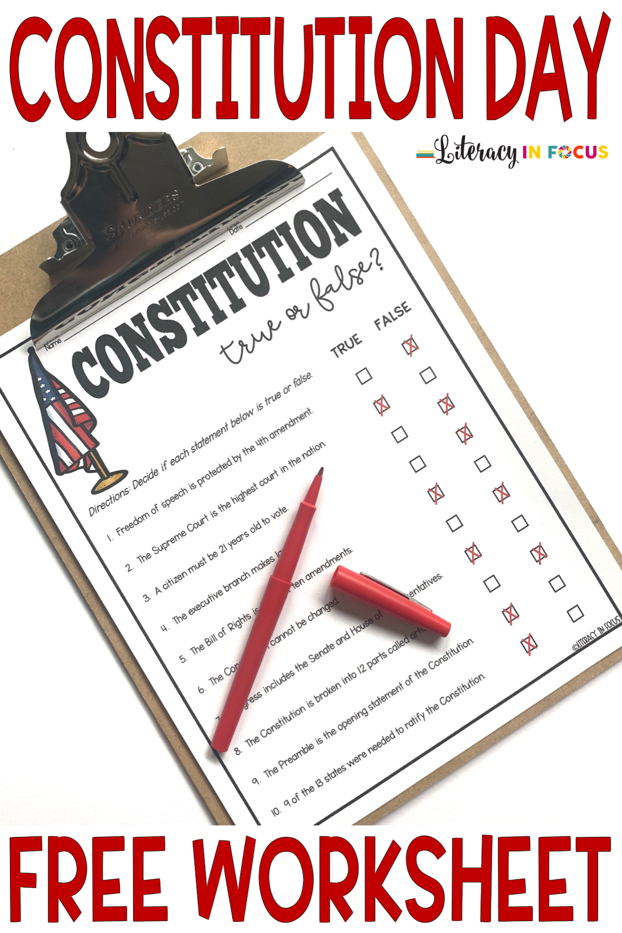 Constitution Day Free Printable