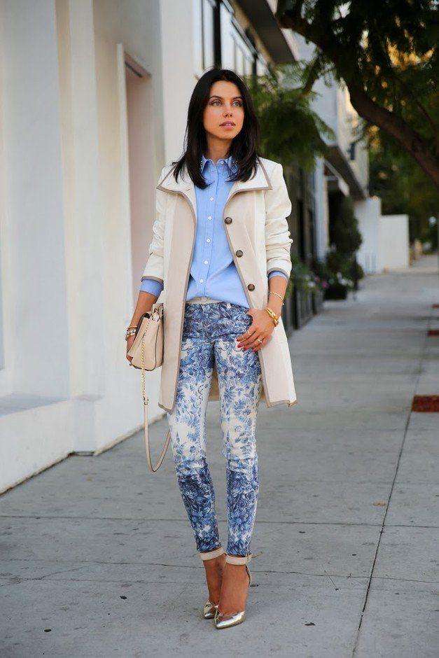 8607ea0fa4891  roressclothes closet ideas  women fashion Pastel Outfit Idea with Printed  Jeans