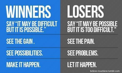 Winner Vs Loser Inspirational Quotes Pictures Motivational Picture Quotes Motivation