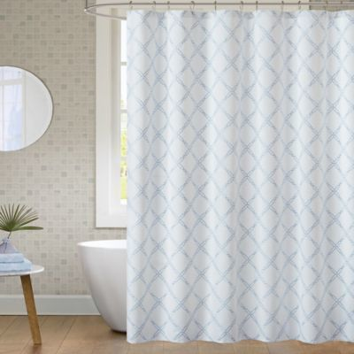 Anthony 72 Inch X 72 Inch Shower Curtain In Blue Blue Shower