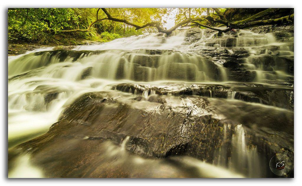 Deep forest Vattakanal (Vatta) waterfalls in serene surroundings